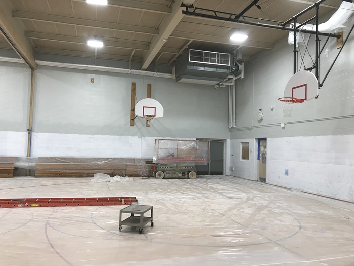 elementary gym painting