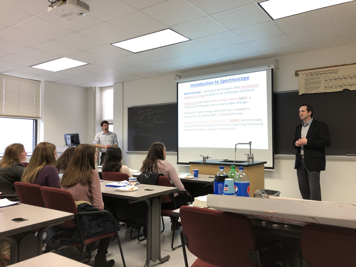 Mr Stives' Chemistry students are introduced to and experience Nuclear Magnetic Resonance (NMR) Spectroscopy today at St. Bonaventure University.