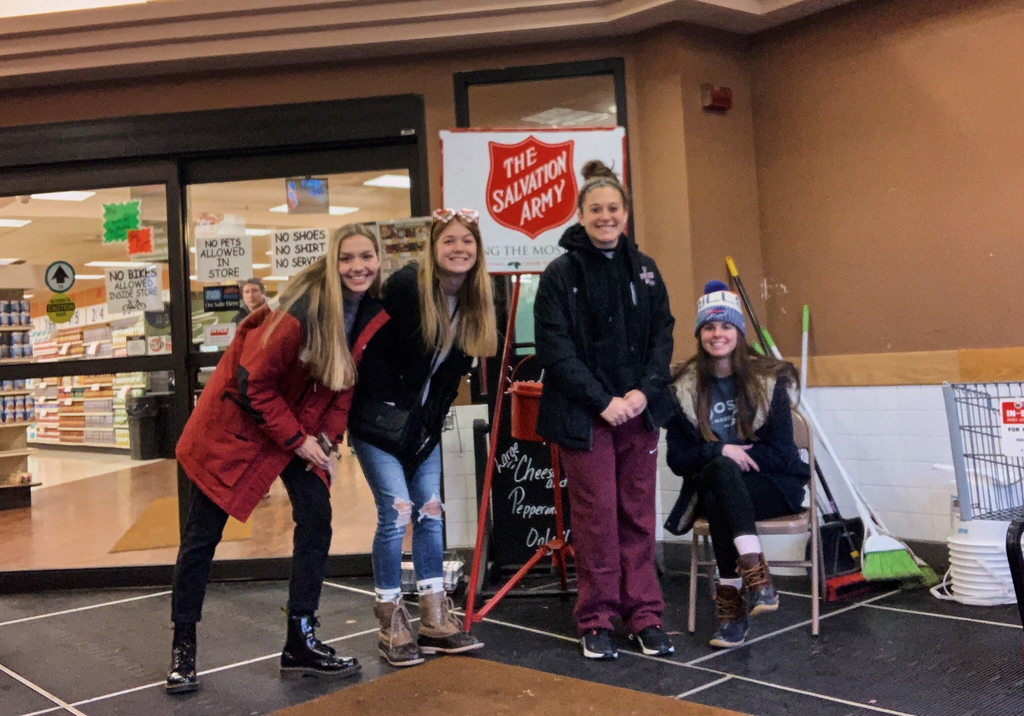 More of our NHS students ringing the bell  at Ried's.  Stop down and give a donation!