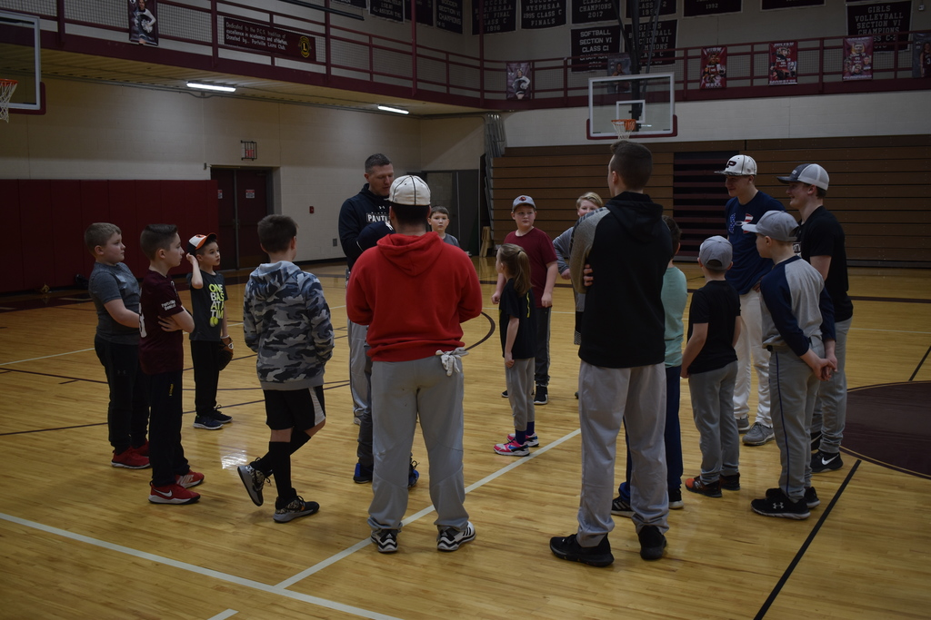 PCS Varsity Baseball is sharing their skills, knowledge, and baseball wisdom at the PCS Youth Baseball Clinic